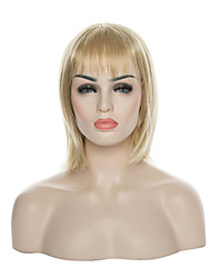 New Arrival Star Style Bob Wig Blonde  Long Straight Synthetic Hair Wig Full Wig