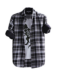 JamesEarl Herren Hemdkragen Lange Ärmel Shirt & Bluse Schwarz-DA202047626