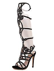Women's Shoes Leatherette Stiletto Heel Heels / Fashion Boots / Comfort / Shoes & Matching Bags / NoveltySandals /