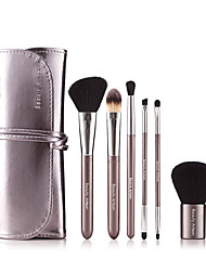 6 Makeup Brushes Set / Eyeshadow Brush / Lip Brush / Eyelash Comb (Flat) / Powder Brush / Foundation Brush