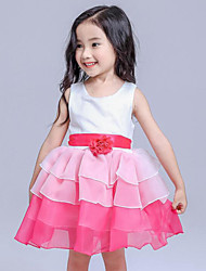 Girl's Blue / Red Dress Rayon Summer