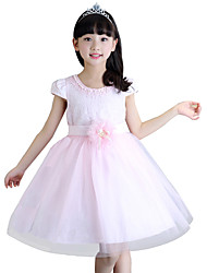 Girl's Summer Cotton Lace Princess Dress