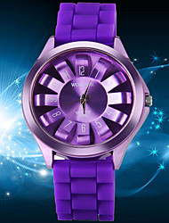 Women's Fashionable Leisure Color Silicone Watch