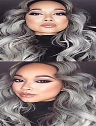 3pcs / lot barato mejor calidad trama brasileña virginal del pelo teje 1b / extensiones del pelo de la onda del cuerpo gris pelo ombre de