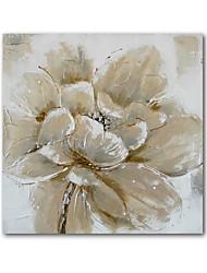 olieverf moderne abstracte bloemen met de hand beschilderd doek met gestrekte kader