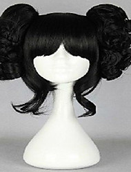 Black Cosplay Wig Synthetic Hair Loose Wavy  Animated Wigs Girl's Cartoon Wigs Party Wigs Full Wig
