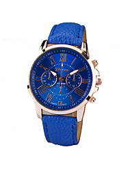 Women's Round Dial Case Leather Strap Watch Watch Brand Fashion Quartz Watch Sport Watch Cool Watches Unique Watches