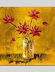 Peint à la main Nature morte / A fleurs/BotaniqueClassique / Traditionnel / Pastoral / Style européen / Modern Un Panneau ToilePeinture à