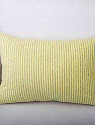 Stripe Short Velvet Cushion Cover-Yellow