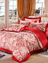 Floral Cotton 4 Piece Duvet Cover Sets