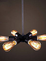 Northern Eurpean Style Vintage Creative Dining Room Chandelier Six Head  Coffee Shop Light