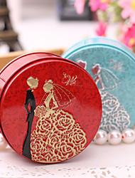 Без персонализации-Коробочки / Горшки и банки для конфет / Подарочные коробки(Сиреневый / Розовый / Красный / Синий,Металл) -Свадьба /