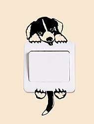 Wall Stickers Wall Decals Style Lovely Dog Switch PVC Wall Stickers