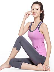 Yoga Klädesset/Kostymer Byxor + Blast Andningsfunktion / Snabb tork / Kompression / Lättviktsmaterial Stretch Fotbollströjor Dam - Annat