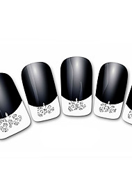 Abstract Black XF821 French 3D Nail Stickers