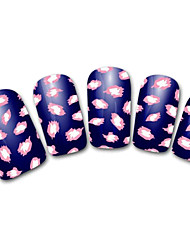 Snowflake/Leopard/Lace White/Red Abstract 3D Nail Sticker