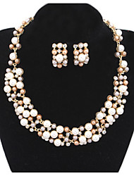 Women / Imitation Pearl Jewelry Set Necklace/Earrings Wedding / Party / Daily / Casual 1set