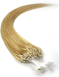 Micro Loop Hair Extensions Brazilian Hair Straight 100s 16-26inch Human Hair Micro Rings Hair Extension