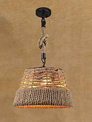 Retro hemp rope pendant lights Dining Room, Living Room, Cafe , Kitchen , Game Room pendant lamps