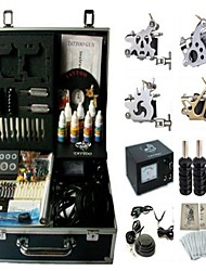 Basekey Tattoo Kit 4 Machines JHK0114 Machine With Power Supply Grips Cleaning Brush Ink Needles
