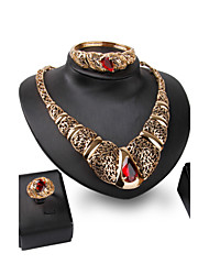 XIXI 18K Gold Plated Choker Chunky Statement Necklace Jewelry Set For Women Multi Layer Necklace Gold
