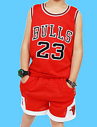 Boy's Cotton Summer Number 23 Basketball Uniform Two-piece Suit
