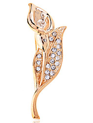 Charms jewelry Tulip diamond brooch for women