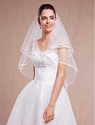 Wedding Veil Two-tier Elbow Veils Tulle White Ivory