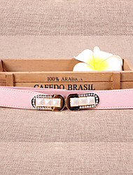 Women Leather Fashion Wide Belt,Vintage / Cute / Party / Casual Alloy