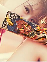 1 Sheets Black Totem  Mens Temporary Tattoo Arm Leg Body Sticker Art