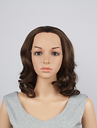 Fashion Synthetic Wigs Lace Front Wigs 10inch Bob Body Wave Brown Heat Resistant Hair Wigs Women