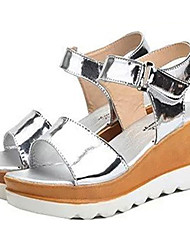 Women's Shoes Leatherette Platform Wedges / Platform Sandals Outdoor / Casual Black / Silver / Gold