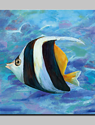Handmade Modern Glofish Oil Painting On Canvas For Living Room Home Decor Wall Paintings Whit Frame Ready To Hang