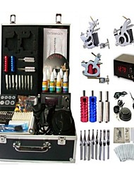 Basekey Tattoo Kit 3 Machines JHK083 Machine With Power Supply Grips Cleaning Brush Ink Needles