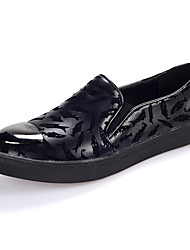 Men's Casual Leather Loafers Driving Shoes Slip-on Black / Blue