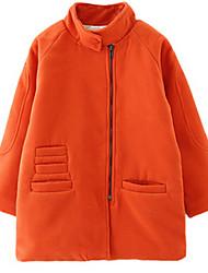 Girl's Orange / Pink Jacket & Coat Wool Winter