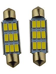 carro festão carking ™ 41 milímetros-5630-9smd levou roma lâmpada de luz branca (12v / 8pcs)