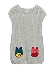 Girl's Gray Sweater & Cardigan Cotton Winter