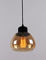 60W Traditional Classic Mini Style Electroplated Glass Pendant Lights
