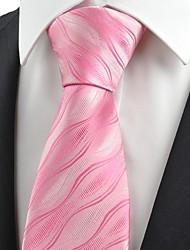Галстук(Розовый,Полиэстер)Узор