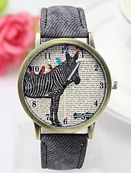 moda de relógio casal relógio zebra cowboy cinto de lona relógio de quartzo retro (cores sortidas)
