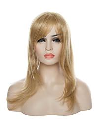 capless mode blond perruque de longs cheveux raides perruques synthétiques nouvelle arrivée