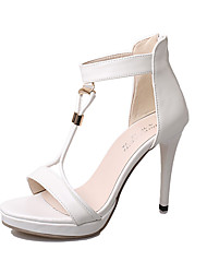 Women's Shoes Suede / Faux Leather Stiletto Heel Heels / Platform / T-Strap / Pointed Toe Sandals / HeelsWedding