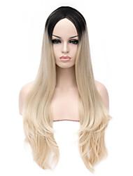 fashional ombre perruque résistant à la chaleur féminine synthétique de mode pas cher beauté perruques deux tons