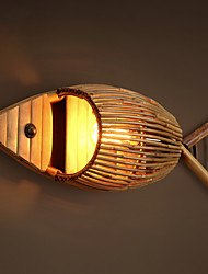 Antique Creative Bamboo Hand-made Wlamps Countryside Retro Classic Lights for Vestibule Corridor Bar  Cafe