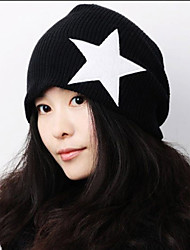 Male And Female Fall And Winter Five-pointed Star Loose Sleeve Non-mainstream Headgear Wool Knitted Hat