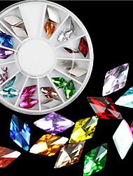 симпатичный акриловые 24pcs 6 * 11мм алмаз японский ювелирные изделия ногтей