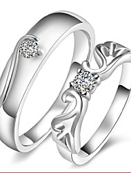 2pcs Sterling Silver Ring Angle Wing Couple Rings Adjustable Fashion Jewelry for Couple Wedding Engagement Ring