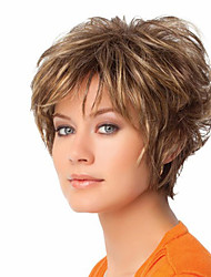 Europe and America Ladies Short Light Brown Color Fashion Wigs