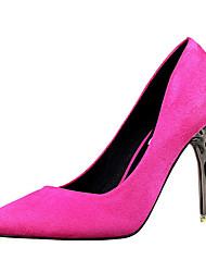 Women's Shoes Fleece Stiletto Heel Heels Heels Casual Black / Green / Pink / Red / Gold / Khaki / Coral